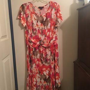 Long flowing floral print dress